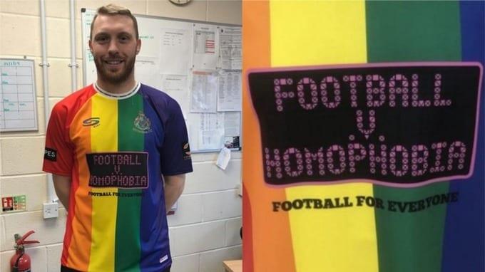Clube de futebol da Inglaterra apresenta uniforme LGBT+